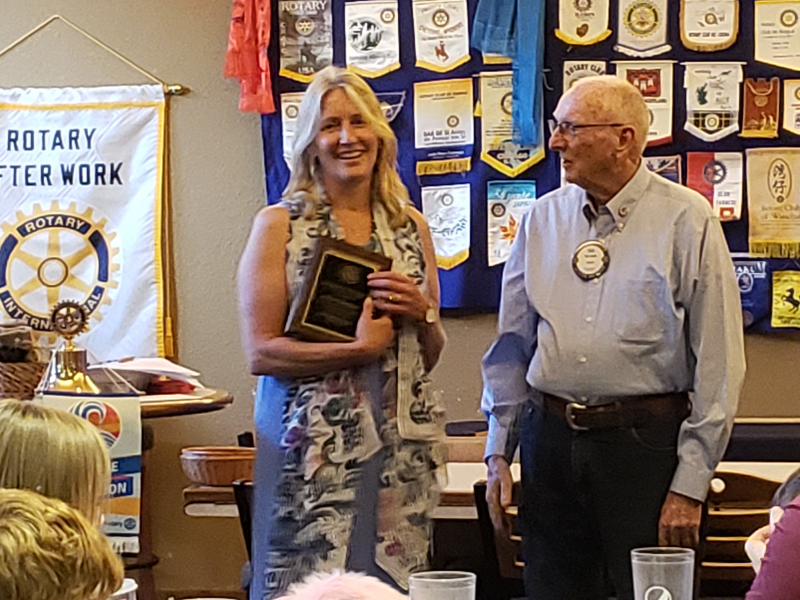 Rotarian of the Year Awarded to Ruth Brodeen